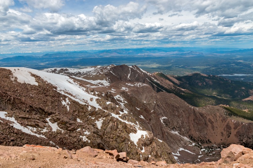 photo from the summit of Pikes Peak