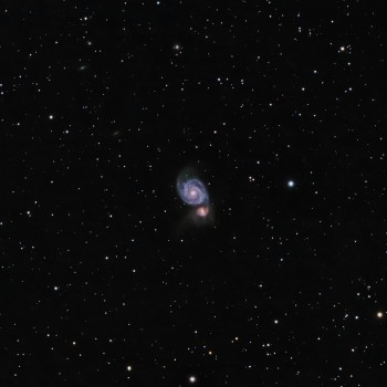 photo of M51, the Whirlpool Galaxy