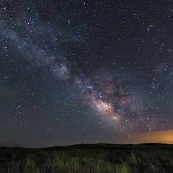 photo of the Milky Way from a field in Calhan, Colorado
