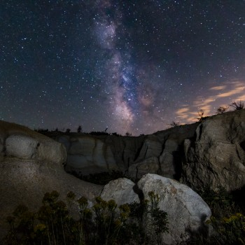 photo of the Milky Way and the Paint Mines