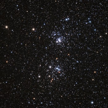 photo of the Double Cluster in the constellation Perseus