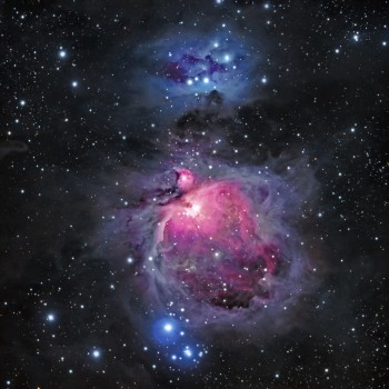 photo of the Orion Nebula and the Running Man Nebula