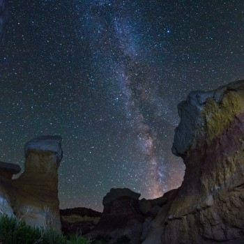 photo of the Milky Way from the Paint Mines Open Space in Calhan, Colorado