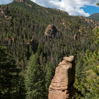 photo of rock formations in North Cheyenne Canyon