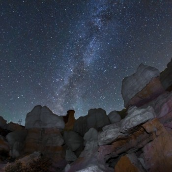 photo of the Milky Way from the Paint Mines Open Space