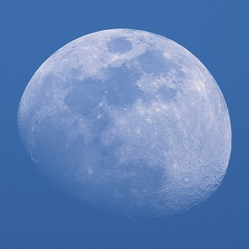 photo of the moon during the day
