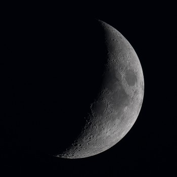 photo of the four day old moon