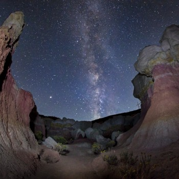 photo of the Milky Way from the Paint Mines