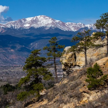 photo of Pikes Peak from Palmer Park