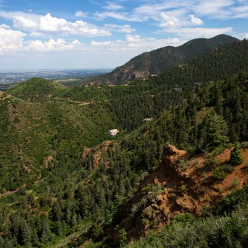 photo of the Colorado Springs foothills