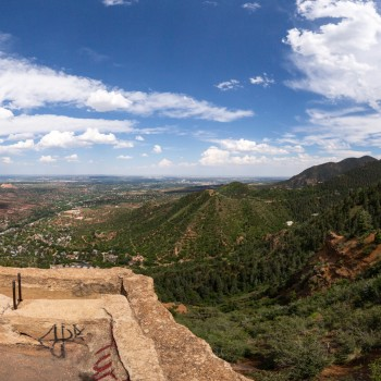 Panoramic photo from the top of Red Mountain
