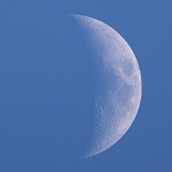 Photo of the crescent day moon