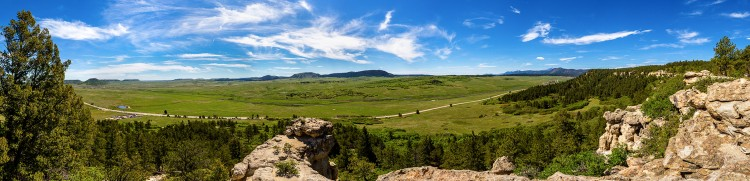 Panoramic photo from the top of Spruce Mountain