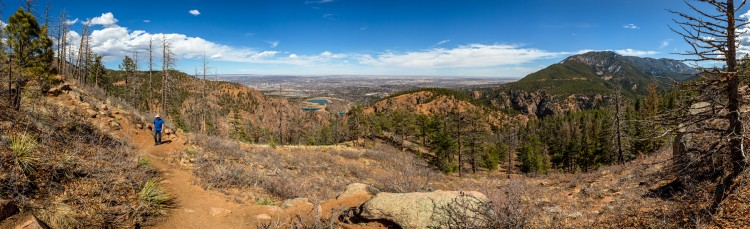 panoramic photo from the top of Mount Muscoco